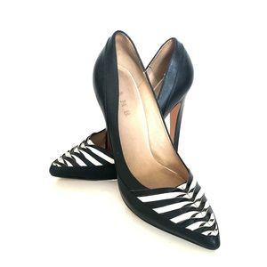 L.A.M.B. Black and White Heels